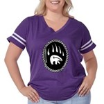 Tribal Bear Women's Plus Size Football T-Shirt
