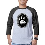 Tribal Bear Claw Mens Baseball Tee