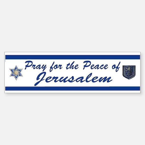 Pray For Jerusalem 2 Bumper Bumper Bumper Sticker