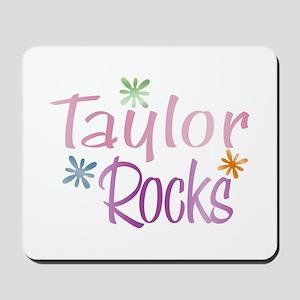 Taylor Girl's Name Rocks Mousepad