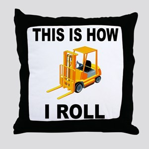 FORKLIFT OPERATOR Throw Pillow