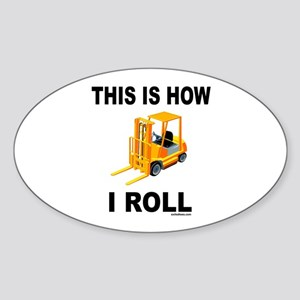 FORKLIFT OPERATOR Oval Sticker