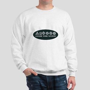 Retro gaming - choose your weapon Sweatshirt