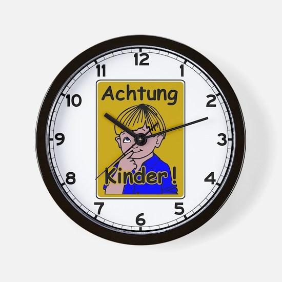 Caution Children, Austria Wall Clock