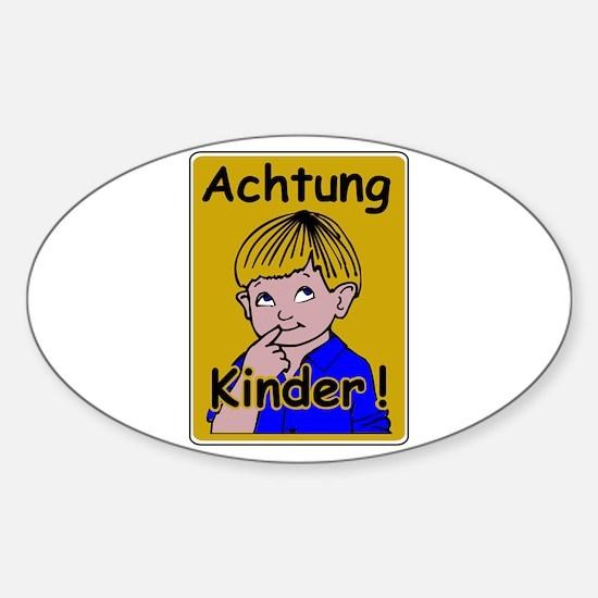 Caution Children, Austria Oval Decal
