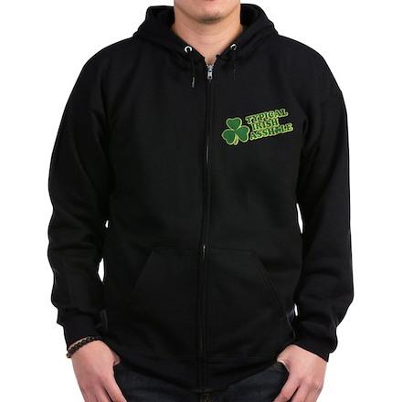 Typical Irish Asshole Zip Dark Hoodie