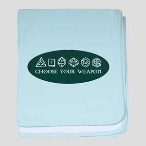 Retro gaming - choose your weapon baby blanket