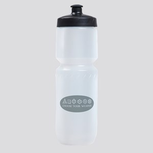 Retro gaming - choose your weapon Sports Bottle