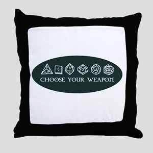Retro gaming - choose your weapon Throw Pillow