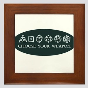 Retro gaming - choose your weapon Framed Tile