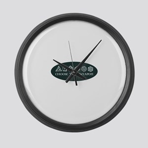 Retro gaming - choose your weapon Large Wall Clock