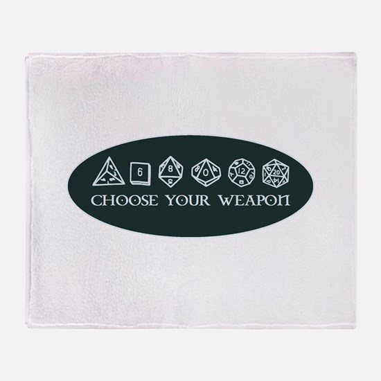 Retro gaming - choose your weapon Throw Blanket