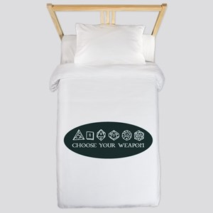 Retro gaming - choose your weapon Twin Duvet Cover