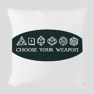 Retro gaming - choose your wea Woven Throw Pillow