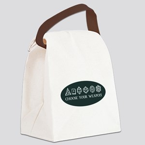 Retro gaming - choose your weapon Canvas Lunch Bag