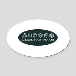 Retro gaming - choose your weapon Oval Car Magnet