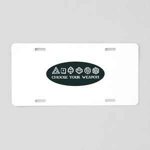 Retro gaming - choose your Aluminum License Plate