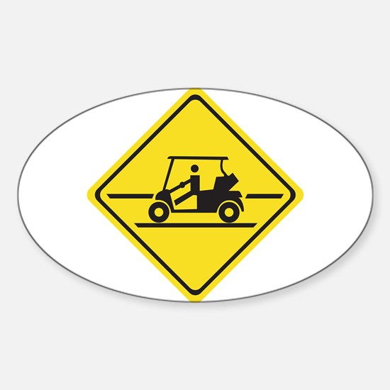 Caution Golf Car, Tennessee, USA Oval Decal