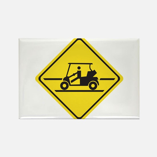Caution Golf Car, Tennessee, USA Rectangle Magnet