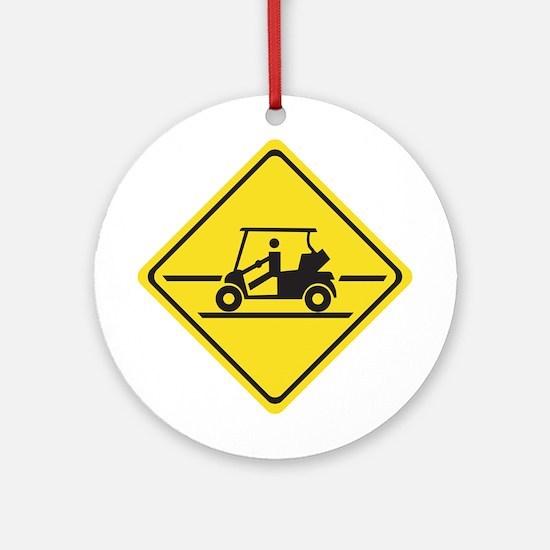 Caution Golf Car, Tennessee, USA Ornament (Round)