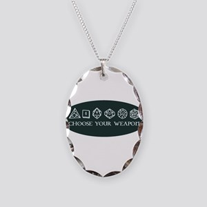 Retro gaming - choose your wea Necklace Oval Charm