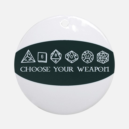 Retro gaming - choose your weapon Round Ornament