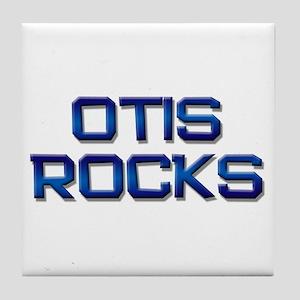 otis rocks Tile Coaster