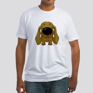Big Nose/Butt Dachshund Fitted T-Shirt