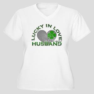 Lucky in Love Women's Plus Size V-Neck T-Shirt
