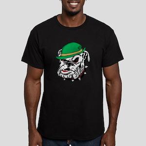 Irish Bulldog Men's Fitted T-Shirt (dark)