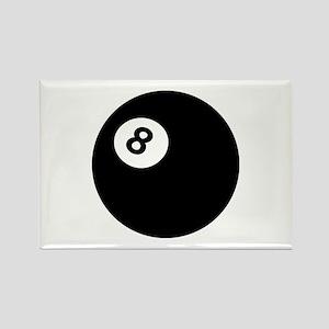 black billiard ball Rectangle Magnet