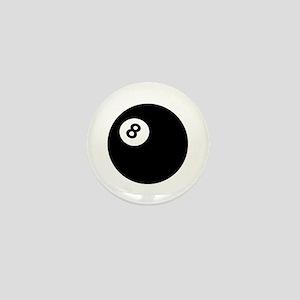black billiard ball Mini Button