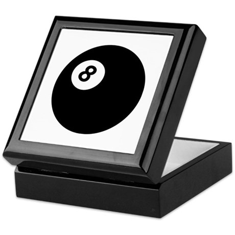 black billiard ball Keepsake Box