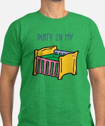 Party in my crib Men's Fitted T-Shirt (dark)