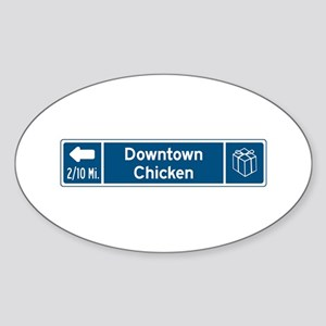 Chicken, Alaska Oval Sticker