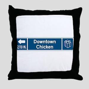 Chicken, Alaska Throw Pillow