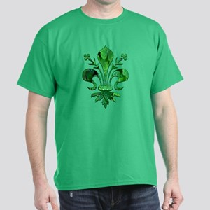 Irish Green Fleur de lis Dark T-Shirt