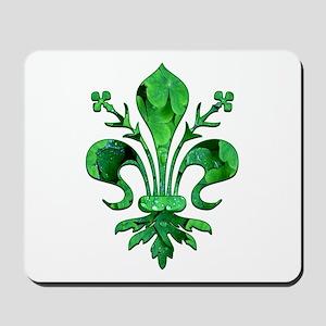 Irish Green Fleur de lis Mousepad