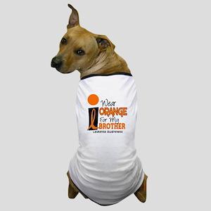 I Wear Orange For My Brother 9 Leukemia Dog T-Shir