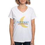 Half Moon Women's V-Neck T-Shirt