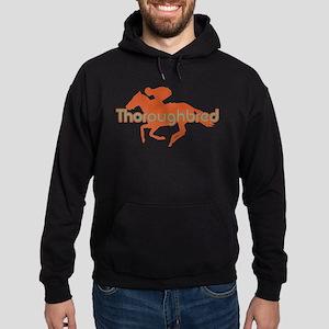 Thoroughbred Horse Hoodie (dark)