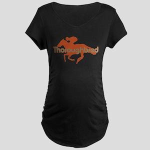 Thoroughbred Horse Maternity Dark T-Shirt