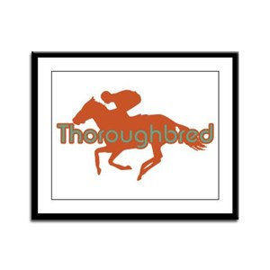 Thoroughbred Horse Framed Panel Print