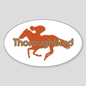 Thoroughbred Horse Oval Sticker