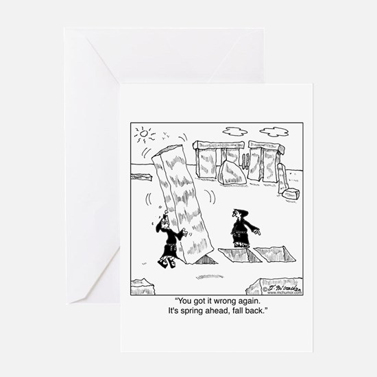 Springing Forward at Stonehenge Greeting Card