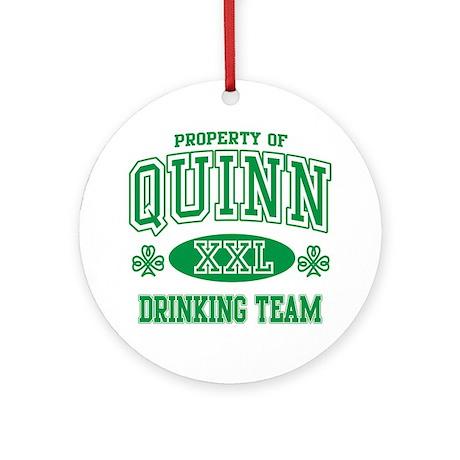 Quinn Irish Drinking Team Ornament (Round)