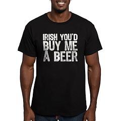 Irish Buy Me Beer Men's Fitted T-Shirt (dark)