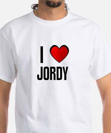 I LOVE JORDY White T-Shirt