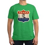 Obama JFK '60-Style Shield Men's Fitted T-Shirt (d