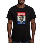 Obama JFK '60-Style Men's Fitted T-Shirt (dark)